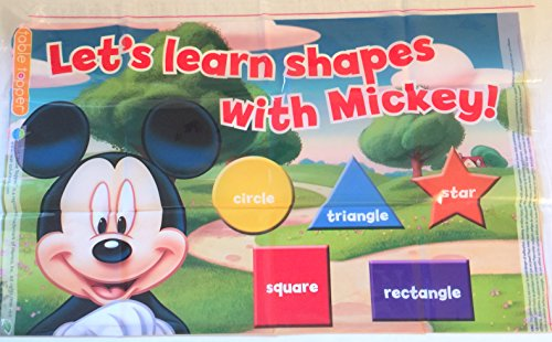 "Neat Solutions Disney Junior Disposable Table Topper Place Mat Mickey Mouse ""Let's Learn Shapes with Mickey"""
