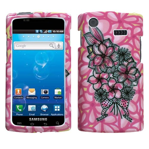 Bouquet Protector Case Snap On Hard Phone Cover for Samsung Captivate i897 (Galaxy S) AT&T