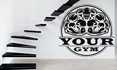Bodybuilding Gym Iron Weight Sport Decor Wall MURAL Vinyl Art Sticker z826