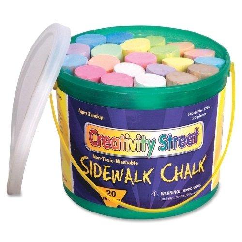Chenille Kraft Company Sidewalk Chalk, Washable/Nontoxic, 20 Pc, 4