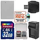 NB-10L Battery & Charger + 32GB SD Card Essential Bundle for Canon PowerShot G16
