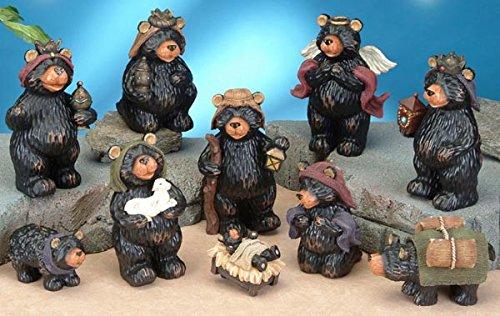 StealStreet SS-UG-PY-3000 Black Bear Religious Nativity Scene Figurine Statue Decor (Bear Nativity Set compare prices)