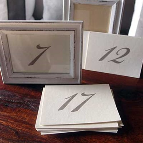 David Tutera Double Sided Table Numbers - Cream/Brown - 25 pieces