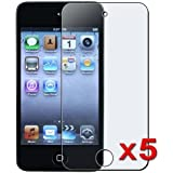 eTECH Collection 5 Pack of Anti-Glare & Anti-Fingerprint (Matte) Screen Protectors for Apple iPod Touch 4th Generation