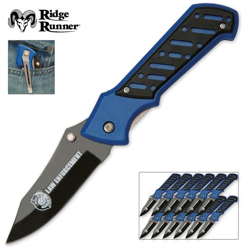 Ridge Runner Law Enforcement Pocket Knife 12 Piece Box Set
