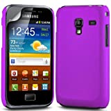 Gadget Giant Samsung Galaxy Ace Plus S7500 Purple Hard Hybrid Case Skin Cover & LCD Screen Protector - GT-S7500