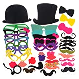 40 Pcs Photo Booth Props on a Stick Cosplay Wedding Birthday Halloween Christmas Party Fun Party Favor
