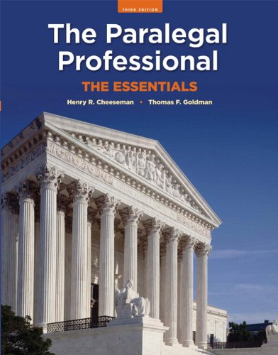 The Paralegal Professional: The Essentials (3rd Edition)