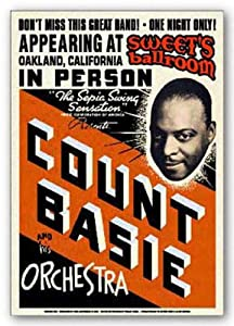 (17x24) Count Basie Orchestra (Concert Flyer) Music Poster Print