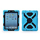 51cNWhqfS L. SL160  IPad Mini 1 & 2 Silicone Plastic Kid Proof Extreme Duty Dual Protective Back Cover Case with Kickstand and Sticker for Apple iPad Mini & iPad Mini with Retina Display   Rainproof Sandproof Dust proof Shockproof