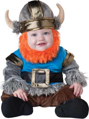 InCharacter Baby Boy's Viking Costume, Silver/Blue, Small(6 - 12mos)
