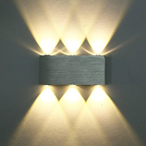 CMYK 6w moderna applique da parete led SMD 5050 lampada da parete bianco caldo