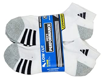 Adidas Mens Sport Low Cut Performance Sock (Pack of 6) by adidas