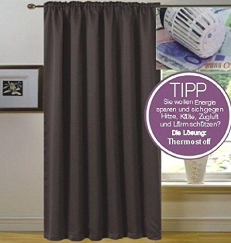 novum fix vorhang gardine f r verdunkelung mit thermoeffekt universal schienenband blickdicht. Black Bedroom Furniture Sets. Home Design Ideas