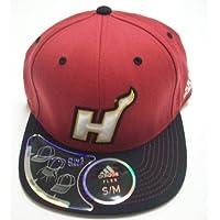 Miami Heat Flat Bill Flexfit Hat by Adidas Size S/M TV12Z