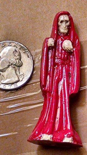 Santa Muerte SMALL 2.25″ statue RED santisima holy death