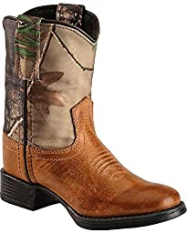 Old West Camo Toddler Boys Canyon Leather Round Toe Cowboy Western Boots 4 D