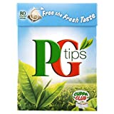 PG Tips 80 Pyramid Teabags - 250 g, Pack of 6