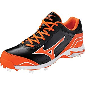Mizuno Mens 9-Spike Advanced Classic 7 Metal Cleats (Low) 9 Us Black/Orange Black|Orange 9 US