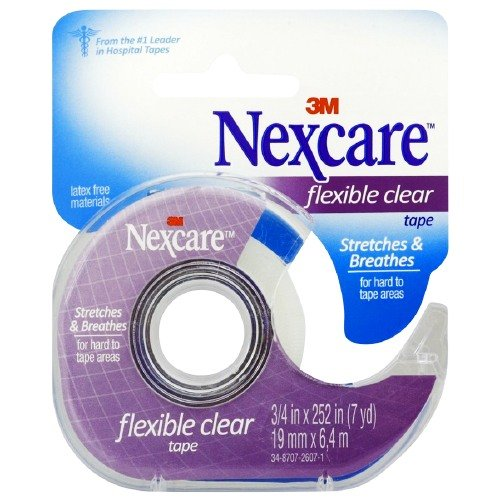 Nexcare First Aid Tape with Dispenser, Flexible Clear, 3/4 in. x 252 in.-1 ea