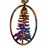Redwood Tree Iridescent Ornament with Ribbon