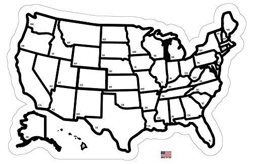 rv state sticker travel map - 13 u0026quot  x 17 u0026quot