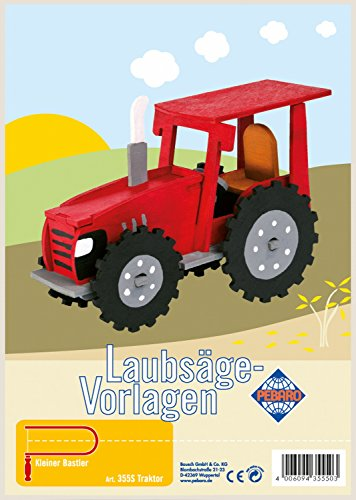 Pebaro-355S-Laubsgevorlage-mit-Motiv-Traktor