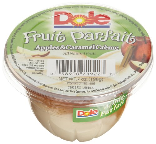 Dole Fruit Parfait Apple and Creme 7 Ounce Cups Pack of 12