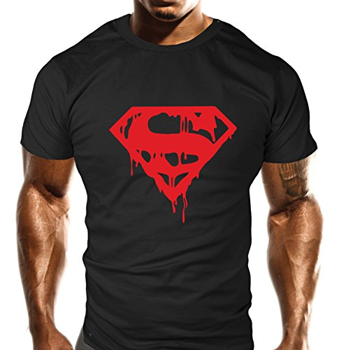 new-mens-evil-red-drip-gym-t-shirt-training-top-sports-bodybuilding-casual-loose-fit-top-s-34-36-che