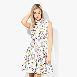 Cozer Creation Floral Printed western wear White And Yellow Skirt Dress Material