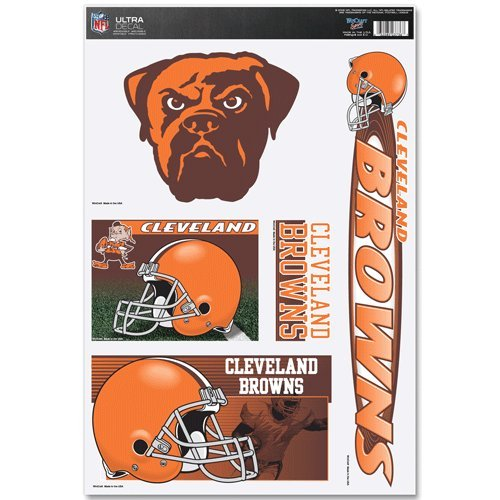 Cleveland Browns Official Nfl 11 Inch X 17 Inch Car Window Cling Decal front-486739