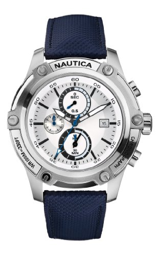 af5adf3a439 Cheap Buy Nautica Men s N17575G NST 05 Silver Dial Watch FREE ...