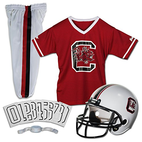 [Franklin Sports NCAA South Carolina Fighting Gamecocks Deluxe Youth Team Uniform Set, Small] (Usc Fan Costume)