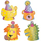 Animal Theme Party Hats, 4ct