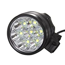 Pellor 7x Cree LED XML Xm-l T6 LED 8000lm Bicycle Light Headlight Headlamp 6x18650 Battery