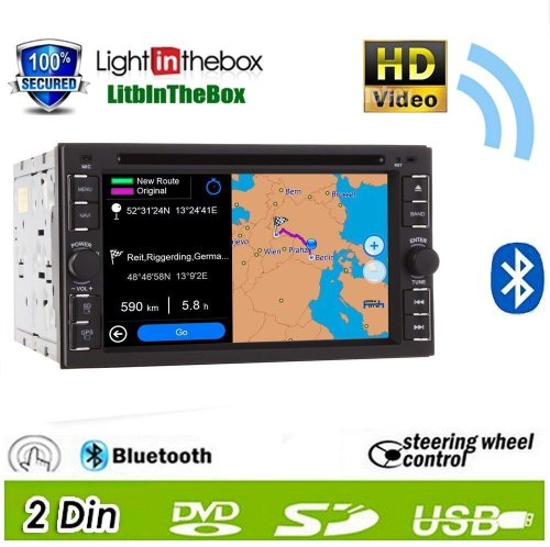 Ouku 2014 New Hot Model 6.2-Inch Double-2 Din In Dash Touch Screen Lcd Monitor With Dvd/Cd/Mp3/Mp4/Usb/Sd/Amfm/Rds/Bluetooth And Gps Navigation Sat Nav Head Deck Tape Recorder Subwoofer Hd:800*480 Lcd New Panel Design! Free Gps Antenna+Free Official Kudo