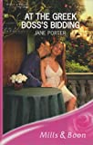 At the Greek Boss's Bidding (Romance) (0263195597) by Porter, Jane