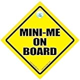Mini Me On Board Car Sign Mini Me Sign Mini Me Mini Me Baby on Board Sign Bumper Stciker Decal Car Sign Baby Car Sign Austin Powers Sign Style Bumper Sticker Car Signs
