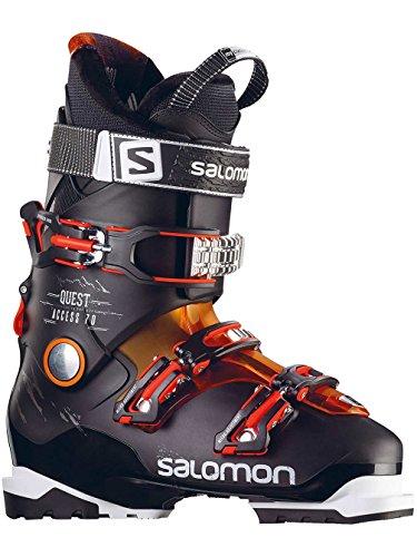 SALOMON QUEST ACCESS 70 scarponi da sci uomo (Nero-arancione) con 2016