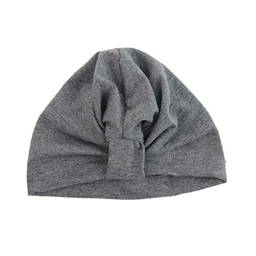 baby-girls-knotted-bohemia-cotton-turban-hat-unisex-baby-hospital-hat-cap-beanie-gray