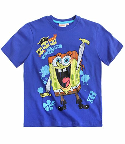 Boys' Spongebob Squarepants T-Shirt - Blue (7-8 Years) front-1079841