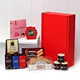 Sweet Treats Red Gift Box Hamper with 11 Items from Fine Food Store Gift ideas for - Valentines,Presents,Birthday,Men,Him,Dad,Her,Mum,Thank you,Wedding Anniversary,Engagement,18th,21st,30th,40th,50th,60th,70th,80th,90th
