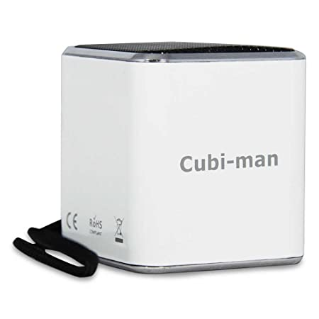 8 x Enceinte nerd clear cubi-man, le petit wurfellautsprecher de porte blanc