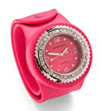 Addison Ross Unisex Quartz Watch with Pink Dial Analogue Display and Pink Silicone Strap WA0103