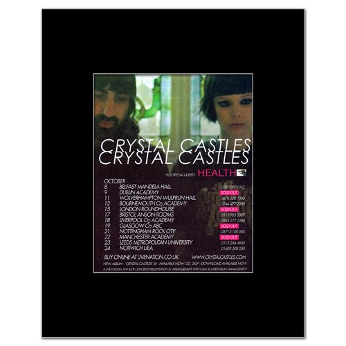 CRYSTAL CASTLES - UK Tour 2010 Matted Mini Poster - 13.5x10cm (Crystal Castles Poster compare prices)