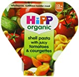 #1: HiPP Organic From 12 Months Growing up Meal Shell Pasta with Juicy Tomatoes and Courgettes (Pack of 8)