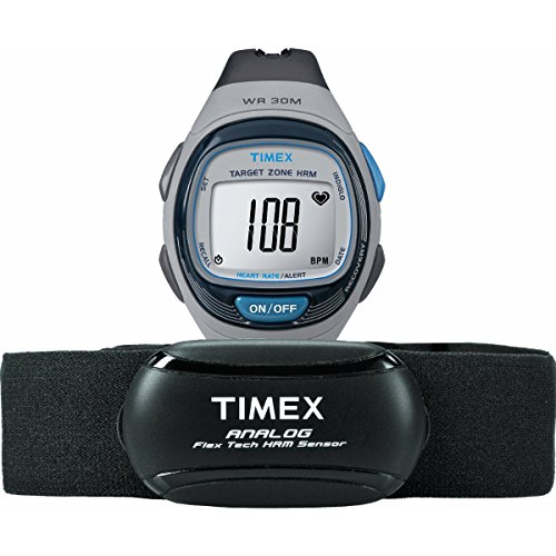 Timex-Unisex-T5K738-Personal-Trainer-Analog-HRM-Flex-Tech-Chest-Strap-Full-Size-GrayBlue-Watch