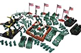 130 Piece Army Military Soldiers Set with Missiles Trucks Jeeps Jets