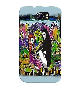 Fuson Dance Girl Back Case Cover for MICROMAX CANVAS 2 PLUS A110 A110Q - D3670