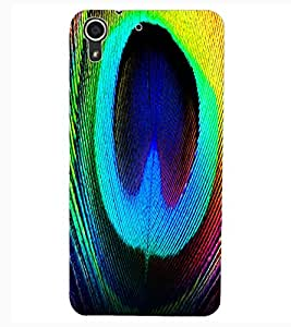 ColourCraft Peacock Feather Design Back Case Cover for HTC DESIRE 626s